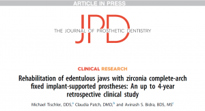 Read full article: Groundbreaking Study of Teeth Tomorrow Bridges published by Journal of Prosthetic Dentistry